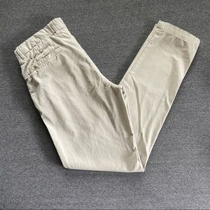 h&m khaki slim fit pants